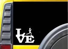 "Running Girl Love J777 6"" Sticker runner decal marathon 26.2"