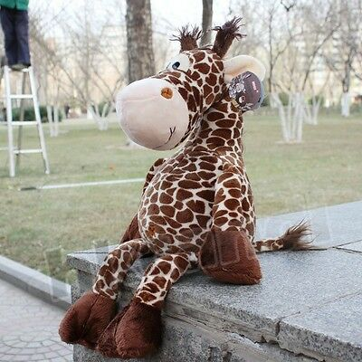 Cute new coffee deer giraffe Stuffed Animals soft toys plush doll 25 CM new
