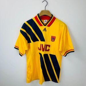 Vintage 1993/1994 Adidas Equipment Arsenal Football Shirt Size Men's Large JVC