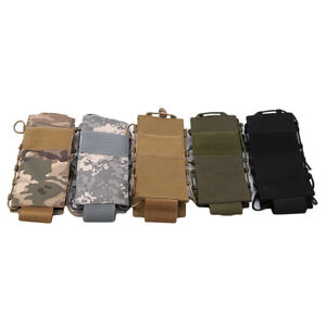 Tactical Molle Water Bottle Pouch Canteen Holster Travel Outdoor Kettle Bag 9L