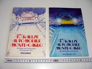 Orig. programmes & Sportive Monte Carlo Rally 1977 LANCIA STRATOS HF MUNARI RAR