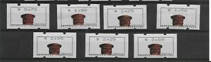 Argentina Nice Argentina 1999 Red Mail Box Machines Stamps Set Of 7 Values See Details Offer Stamps