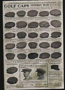 1920 ADVERT Preferred Brand Golf Hat Caps Cap English Plaid Alpine ... 302c0d56a62