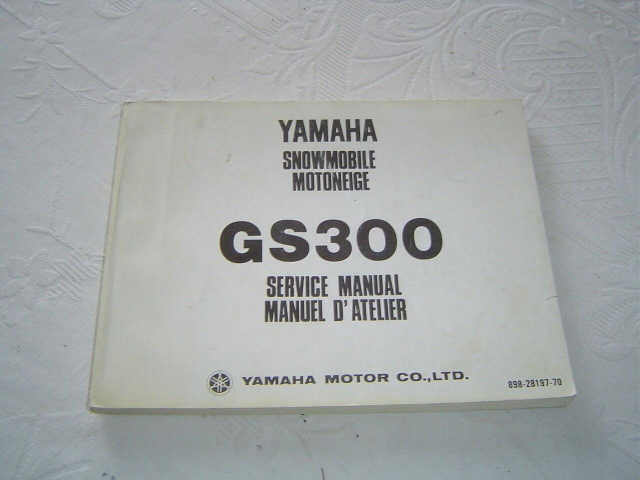 Yamaha GS300  snowmobile service repair shop manual  high quality genuine