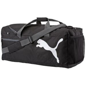 Image is loading New-Puma-Fundamentals-Black-Sports-Duffel-Holdall-Gym- e6dd794af8