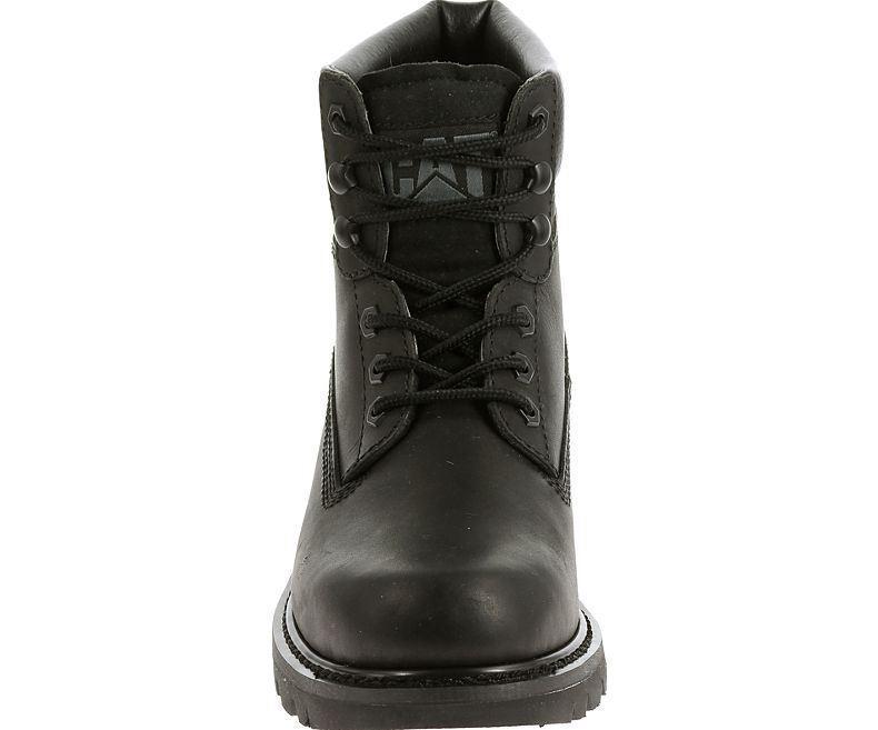 CAT Da Uomo Coloreado oliato Pieno Fiore Stivali Stivali Stivali in pelle nera d9c60c