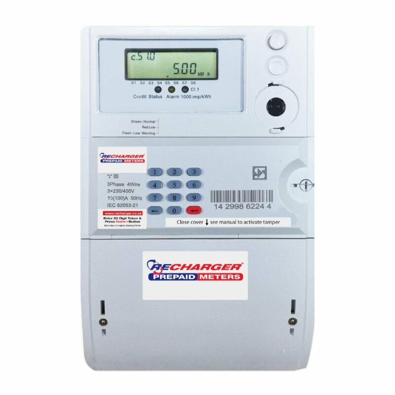 3 Phase Prepaid Electricity Meter 100AMP