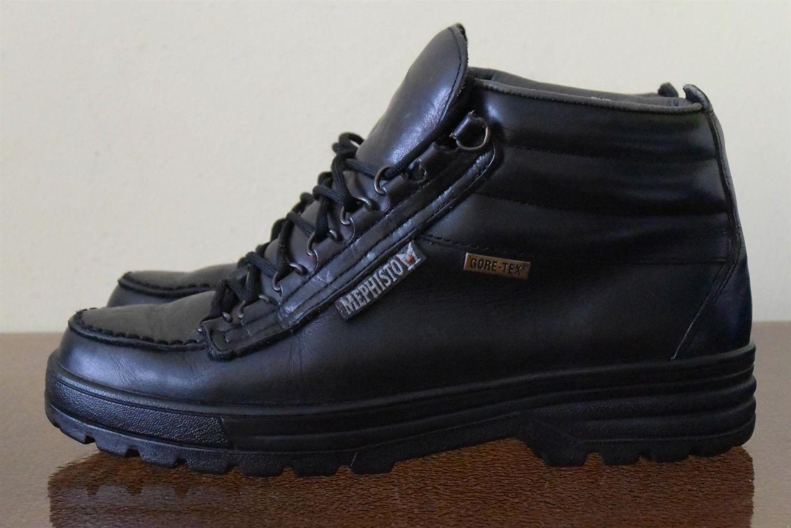 Mephisto Gore-tex Black Leather Waterproof Boots Sz 8