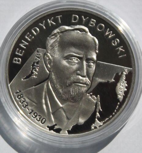 2010 MW silver 10 zlotych Poland Benedykt Dybowski