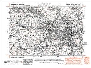 OLD ORDNANCE SURVEY MAP LIVERSEDGE NORTH HECKMONDWIKE 1905 WHITE LEE GOMERSAL