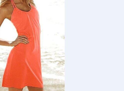 LADIES SUMMER FASHION BEACH COVER UP HALTERNECK DRESS VARIOUS COLOURS//SIZES