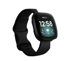 1- Fitbit Versa 3 Smartwatch, Large - Black