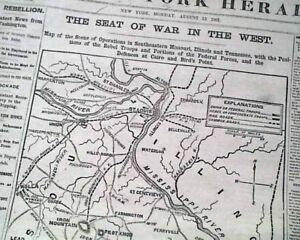 Large-MAP-of-Western-Seat-of-the-CIVIL-WAR-Battle-of-Dug-Springs-1861-Newspaper