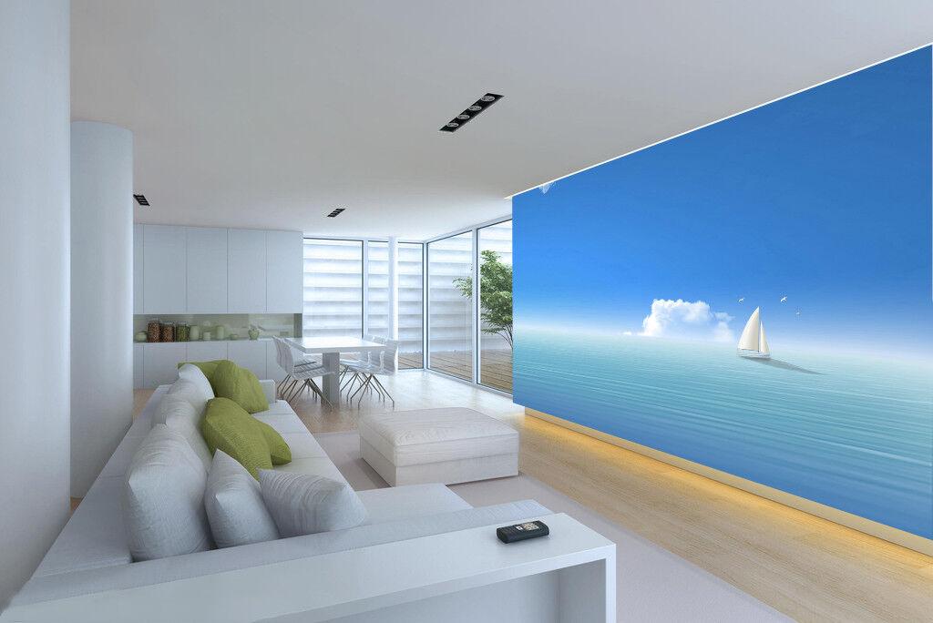 3D Sky Sea Sailboat 86 Wall Paper Murals Wall Print Wall Wallpaper Mural AU Kyra
