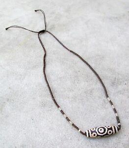 POWERFUL! Vintage Tharu Tibet Tibetan Dzi Shaman Amulet Necklace | eBay