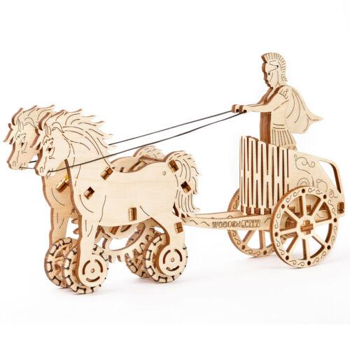 Roman chariot Römischer Wagen Wooden.City