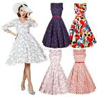 Women Dress 50's 60's Rockabilly Dress Vintage Style Swing Pinup Housewife Dress