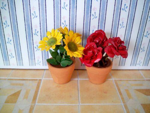 1:12 Blumen im Topf 02 Sehr schöne Miniatur