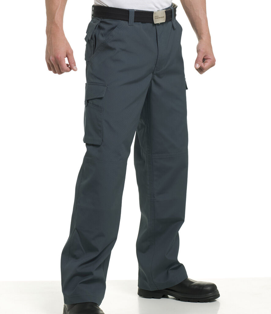 c70baa35 Russell Mens Workwear Combat Trousers 5 Colours 28-48 Waist (001M) Pants  Cargo nsixnm7729-Trousers