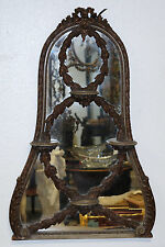 Venetian Italian Carved Wood Mirror w/Shelves Late 19th/E. 20th Century