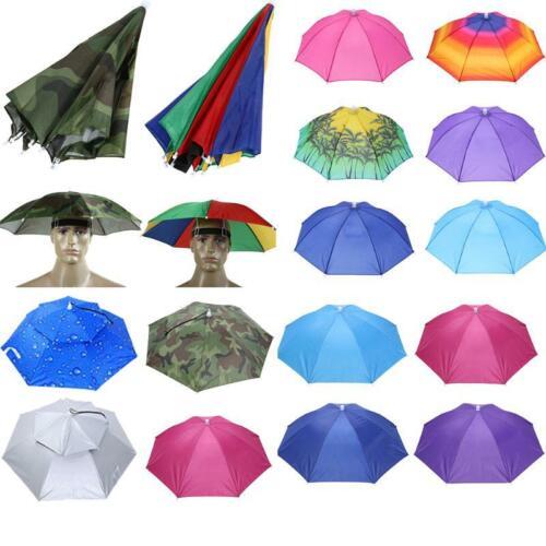Umbrella Hat Headwear Cap Head Hat Handsfree Elastic Head Band Travel Fishing