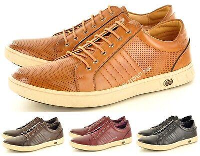 Ehrgeizig Mens New Casual Black Red Brown Tan Lace Up Shoes Trainers Uk Sizes 7 8 9 10 11 äRger LöSchen Und Durst LöSchen