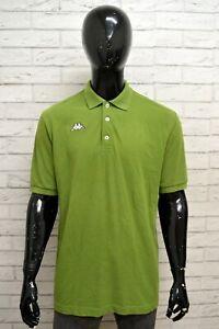 Polo-Uomo-KAPPA-Taglia-XL-Maglietta-Camicia-Shirt-Man-Cotone-Manica-Corta-Verde