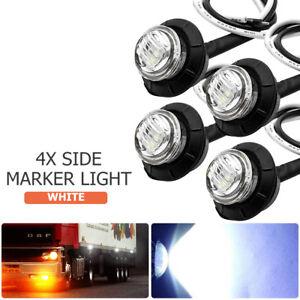 4X-12V-3-LEDs-Luz-Marcador-Lateral-Indicador-para-Remolque-Camion-Van-Furgoneta