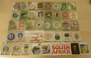Panini-World-Cup-2010-stickers-South-Africa-Shiny-Foil-Badges-Choose-from-menu