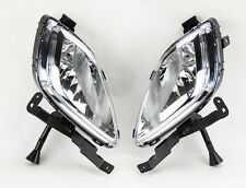 Euro Clear Front Fog Lights Kit w/ Bulbs RH LH FITS Hyundai Elantra 4dr 11-13