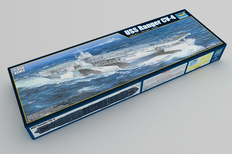 05629 modelo de plástico Trumpeter aviones veliclerier buque de guerra USS Ranger CV-4 1/350