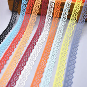 Hot-10-yards-Lace-Ribbon-Width-14MM-Trim-Fabric-Embroidered-For-Sewing
