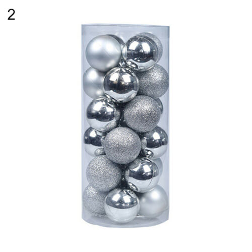 EG/_ 24Pcs 30mm Christmas Tree Balls Small Bauble Hanging Home Party Ornament Wel