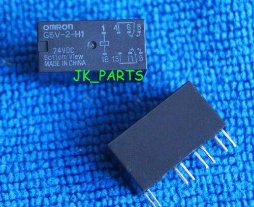 2pcs ORIGINAL 24V Relay G5V-2-H1 24VDC OMRON