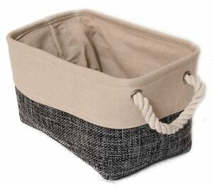 Corbeille-en-tissu-gris-petit-Panier-de-decoration-Corbeille-de-rangement