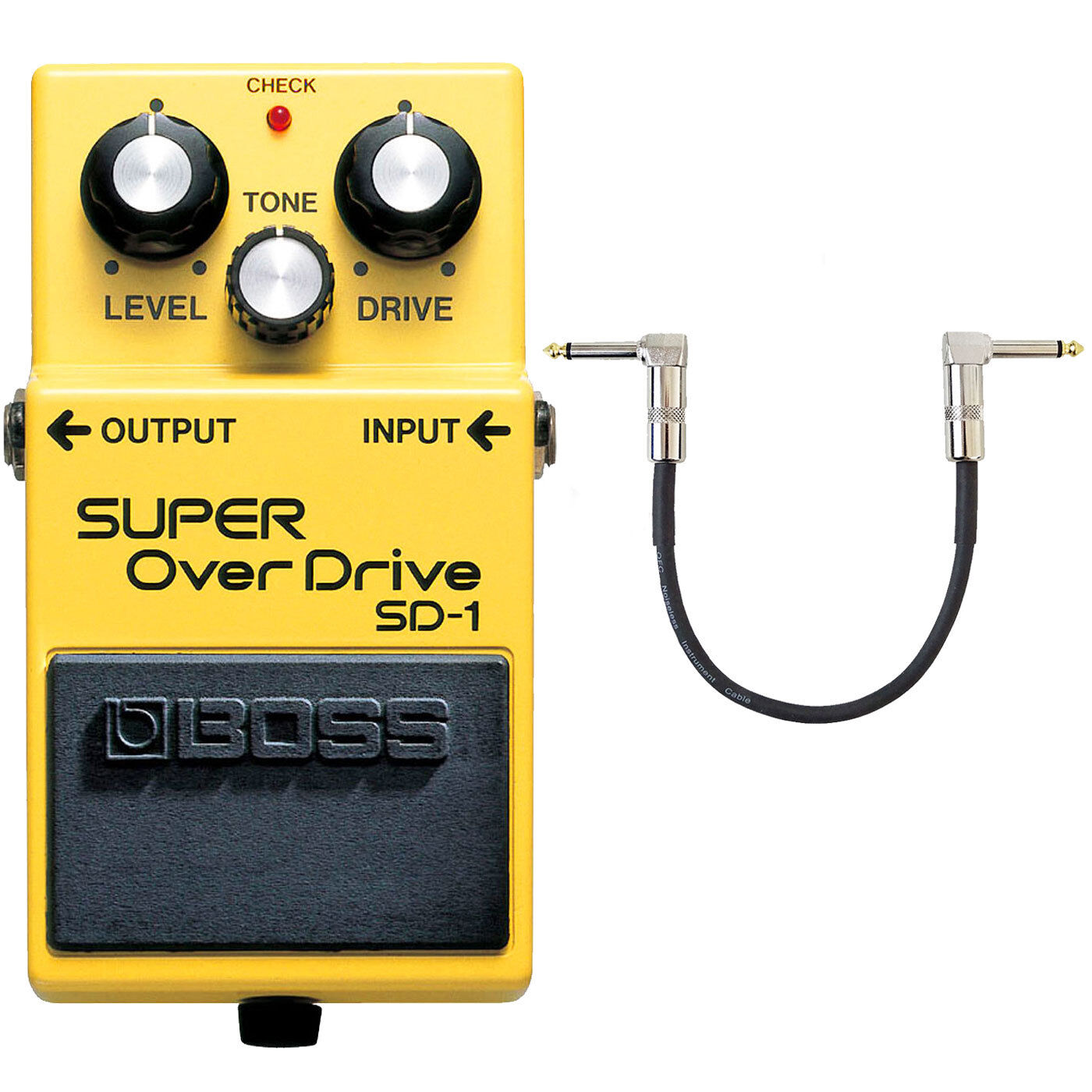 Boss SD-1 Super Overdrive Pedal + Patchkabel 30cm