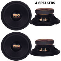 Lot Of 4 Pyramid W64 Woofers 6.5 400w Midbass Poly Woofer Midrange Speakers on sale