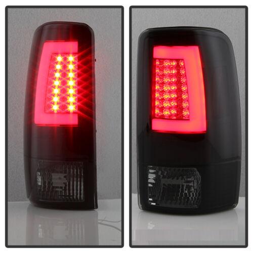 Black Smoke 2000-2006 Chevy Suburban Tahoe Yukon LED Light Bar Tail Lights Lamps