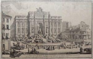 G Vasi Corleone.Details About Trevi Fountain 1742 Original G Vasi Large Etching Rome Italy Roma