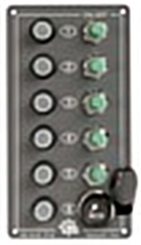 Lighter Plug Aluminium Elite Electric Control Panel Osculati 5 Switch