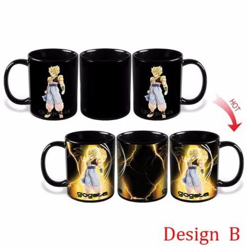 Heat Reactive Color Changing Mug Dragon Ball Z Super Saiya Manga Coffee Cup