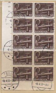 Dänemark 1977 MiNr.: 645 10 Marken Teilblock Eckrand gestempelt; Denmark used - Lübeck, Deutschland - Dänemark 1977 MiNr.: 645 10 Marken Teilblock Eckrand gestempelt; Denmark used - Lübeck, Deutschland