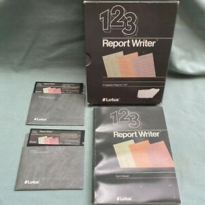 Lotus-123-Report-Writer-Software-5-25-Floppy-Disk-User-Manual-Book-Computer-1-0