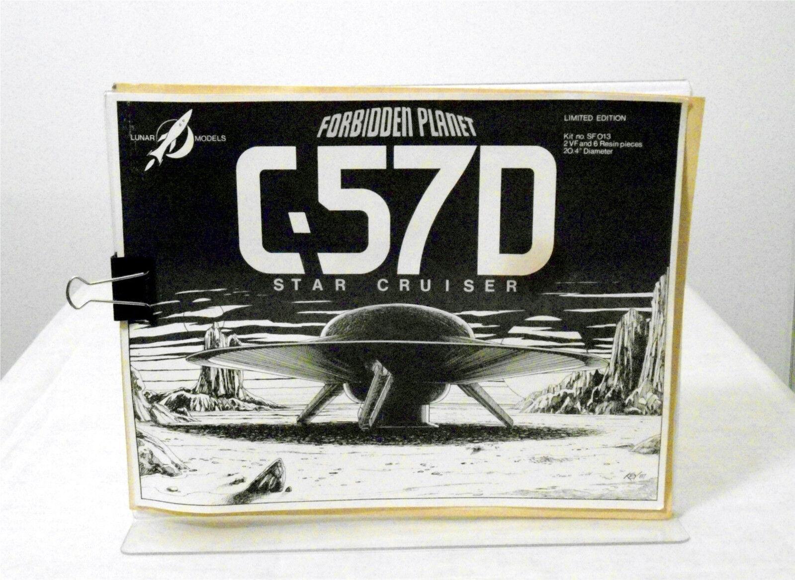 Lunar modellllerlerler Förbjudna planten C -57D stjärna Cruiser Vacuforming modellllerlerl kit