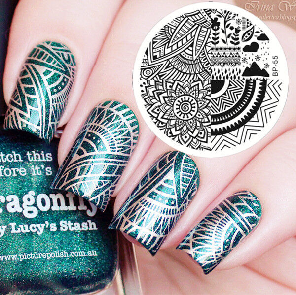 Born Pretty Bp55 Nail Art Stamping Template Image Plates Geometry ...