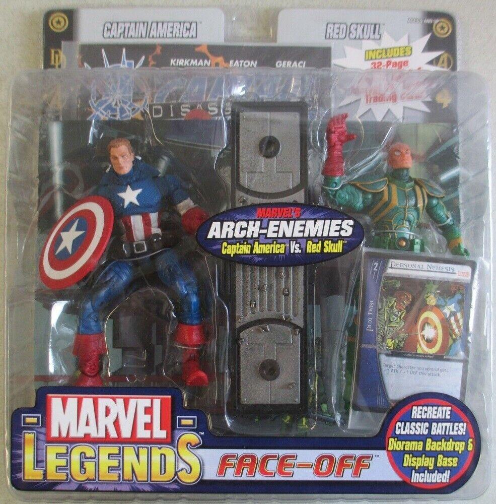 Marvel  Legends Face Off rosso Skull Vs Captain America Unmasked Variant Avengers  nuovo di marca