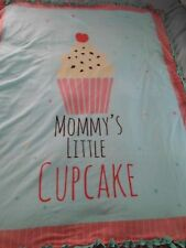 Fleece Handmade Soft Tie Blanket Throw Approx 50X60 Mommy's little cupcake w/bag