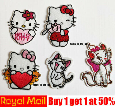 Hello kitty Disney Embroidered Iron On Sew On PatchBadge For Clothes etc