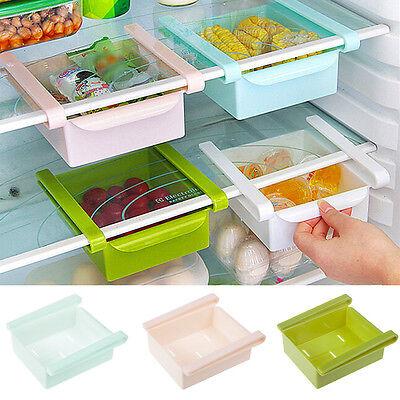 New Plastic Kitchen Freezer Space Saver Rack Shelf Holder Organizer Storage Box