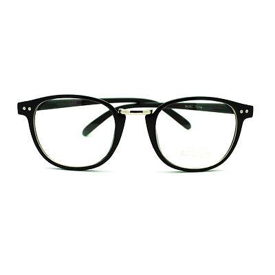 Retro Style European Designer Thin Horn Rim Eye Glasses - Black